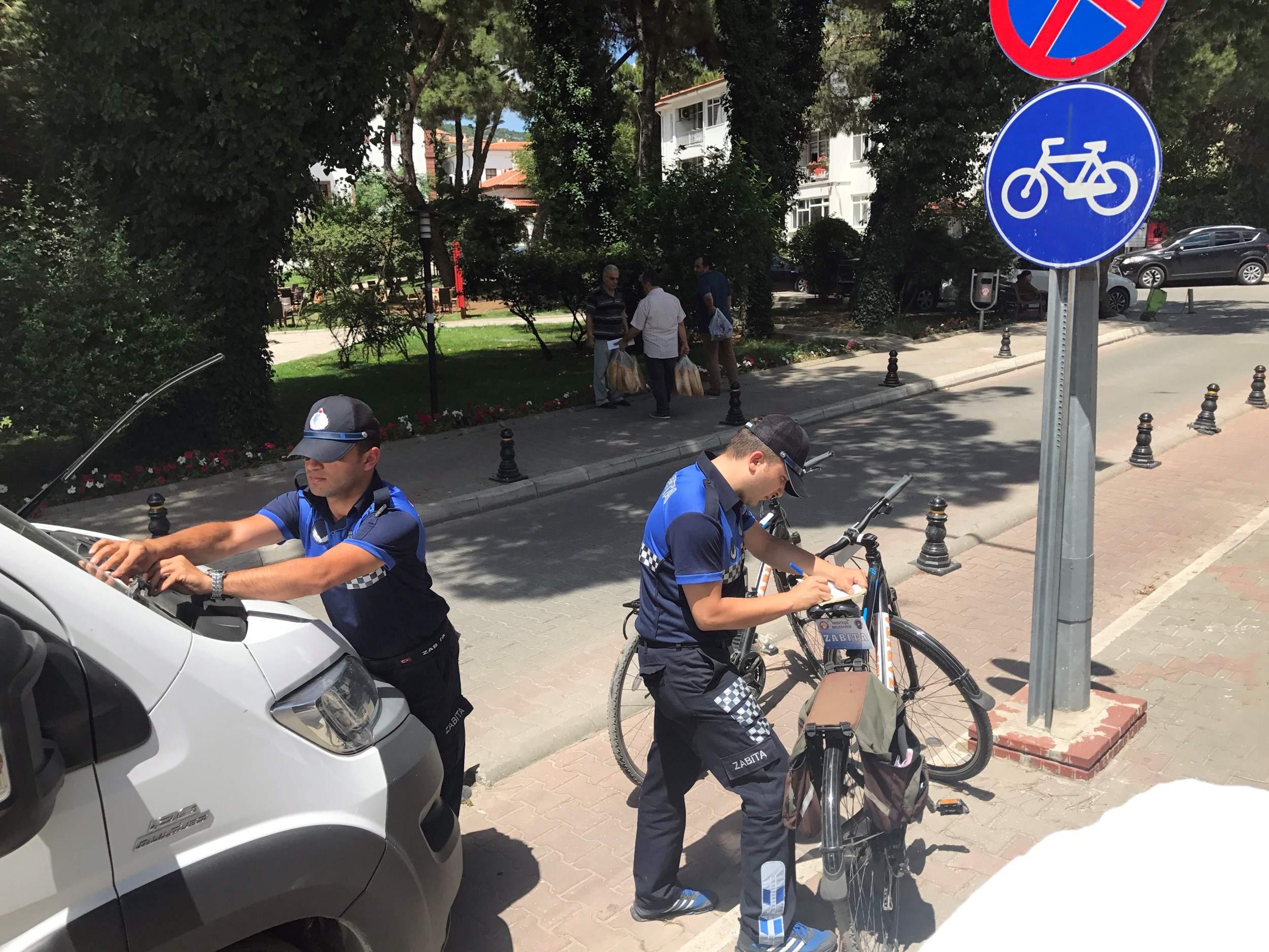 Bisikletli Zabıtalar Görev Başında
