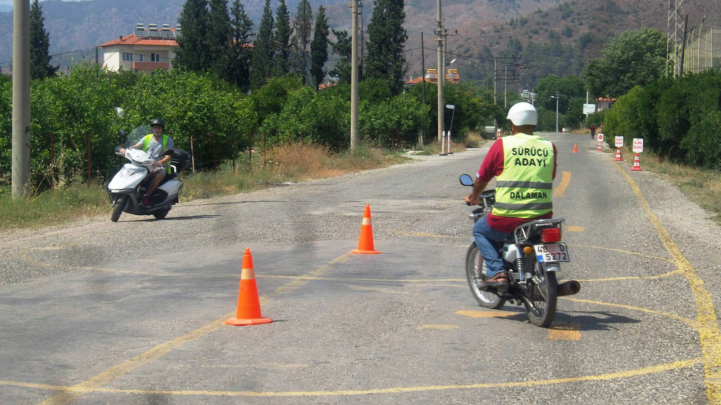DALAMAN DA MOTORSİKLET EHLİYETİ UYGULAMA SINAVI