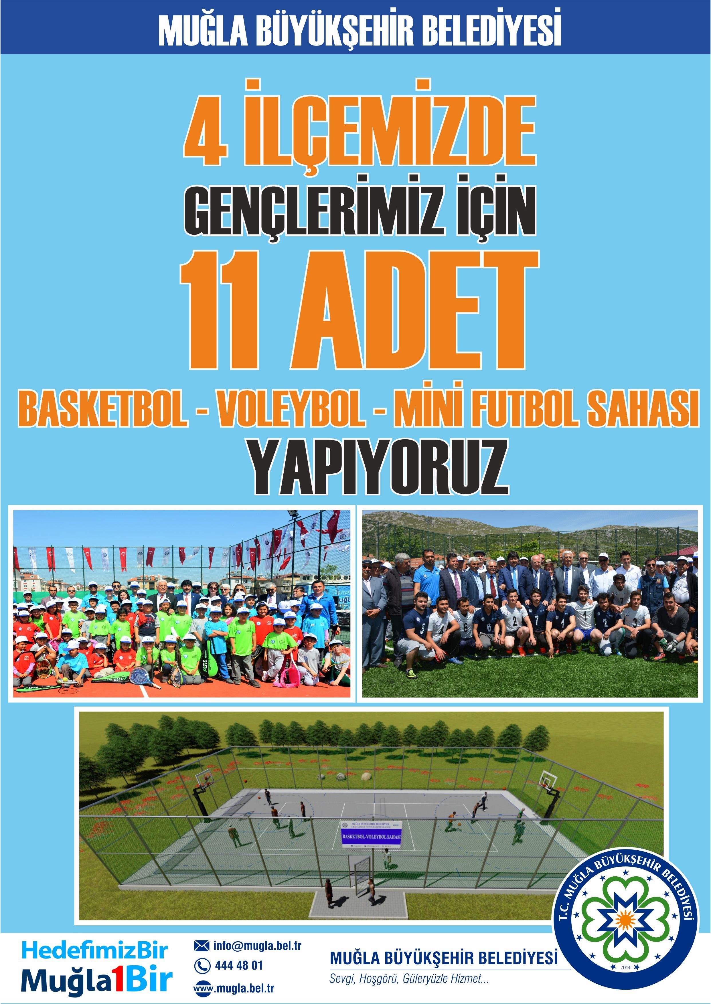 Büyükşehir'den Dalaman'a 4 saha