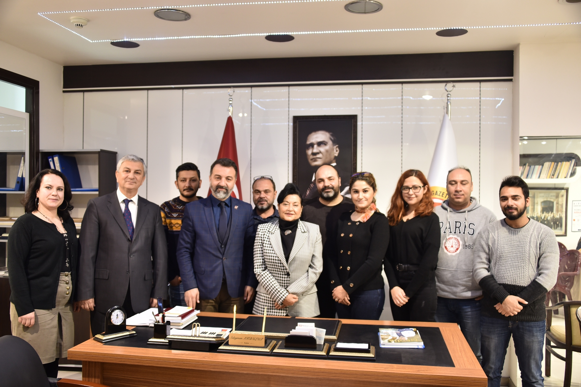 Vali Civelek'ten Muğla Gazeteciler Cemiyetine iadeyi ziyaret