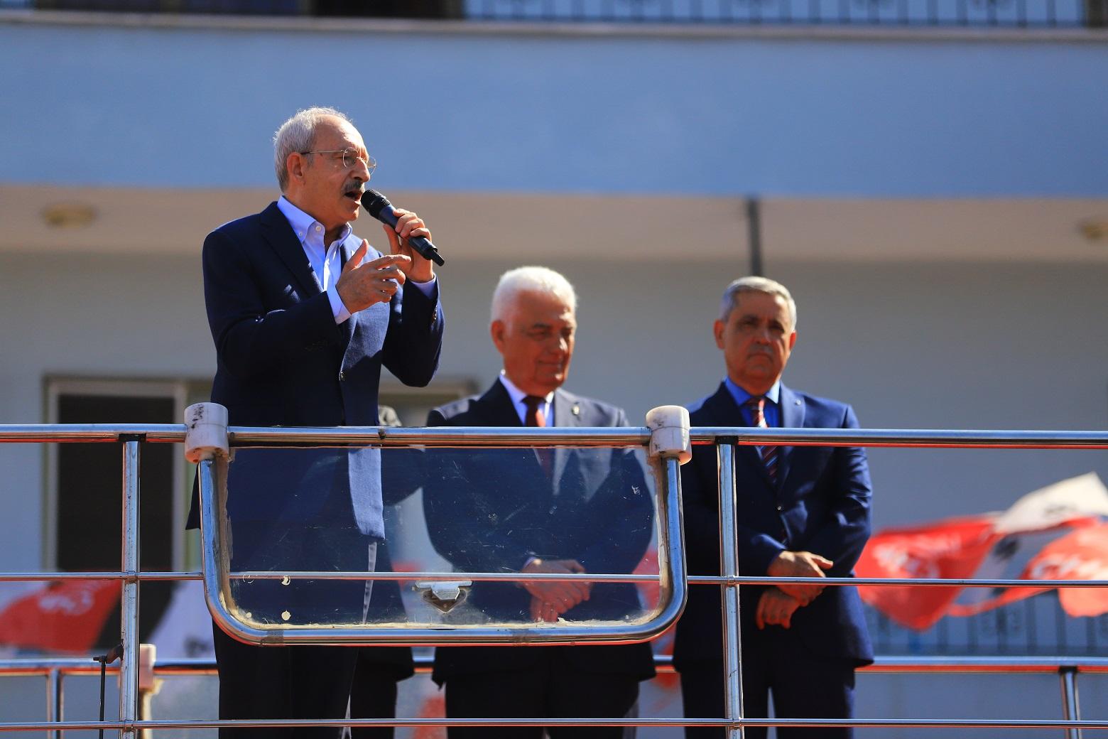 CHP Genel Başkanı Kılıçdaroğlu Dalaman'da