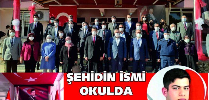 ŞEHİD EMRE KARGIN'IN  İSMİ ANADOLU LİSESİNDE YAŞAYACAK