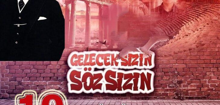 CHP Dalaman İlçe Başkanı Sezer Durmuş'un 19 Mayıs Gençlik ve Spor Bayramı Kutlama mesajı;