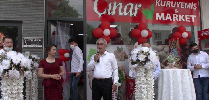 ÇINAR KURUYEMİŞ & MARKET SEYFETTİN İNCE CADDESİNDE AÇILDI